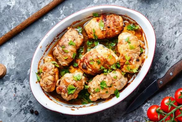 Συνταγή για ρολό κοτόπουλο γεμιστό με μοτσαρέλα