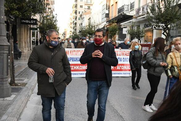 Πάτρα: Η Δημοτική Αρχή στην κινητοποίηση του Εργατικού Κέντρου