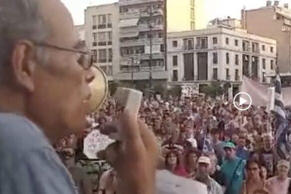 Ο Πατρινός συνταξιούχος ψυχίατρος που μίλησε για «ζόμπι» και «τέρατα» στην πλατεία Γεωργίου