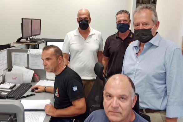 Επίσκεψη του Αντιπεριφερειάρχη Χαράλαμπου Μπονάνου στο Κέντρο Επιχειρήσεων της Πυροσβεστικής