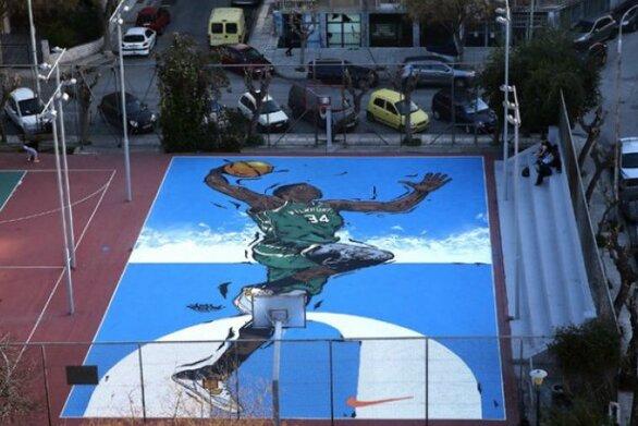 Δήμος Αθηναίων: Τα γήπεδα μπάσκετ των Σεπολίων μεταμορφώνονται προς τιμήν του Γιάννη Αντετοκούνμπο