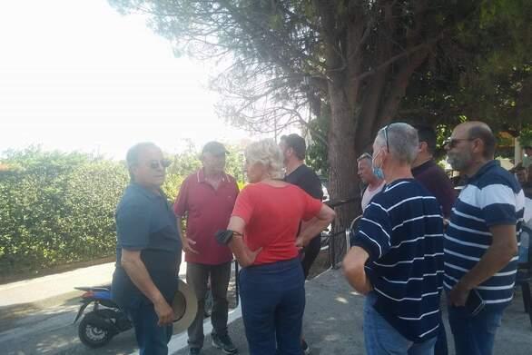 Κλιμάκιο του ΣΥΡΙΖΑ - Προοδευτική Συμμαχία Αχαΐας επισκέφτηκε τις πληγείσες από τις πυρκαγιές περιοχές της Δυτικής Αιγιάλειας (φωτο)