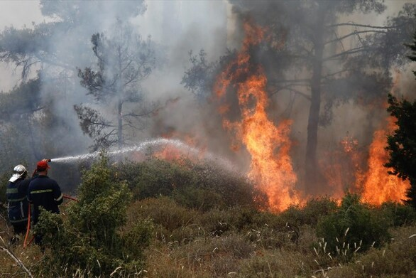 Πολύ υψηλός κίνδυνος πυρκαγιάς στη Δυτική Ελλάδα την Τετάρτη