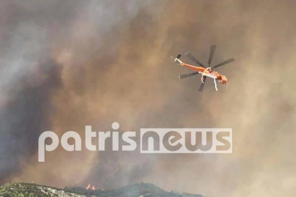 Φωτιά Αρχαία Ολυμπία: Συνεχίζεται η μάχη με τις φλόγες - Στην περιοχή το κινητό επιχειρησιακό κέντρο «Όλυμπος»