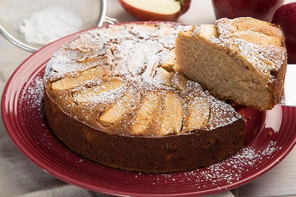 Κέικ μήλου με ελαιόλαδο χωρίς γλουτένη