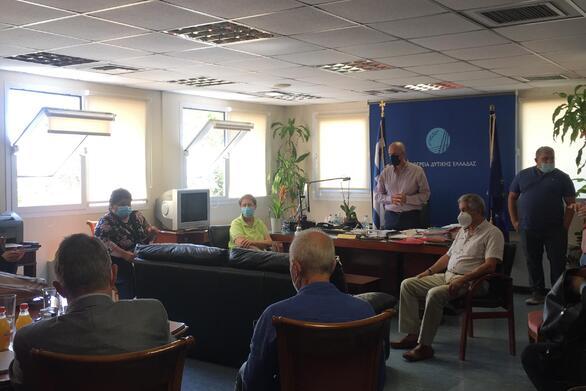 Συνάντηση εργασίας στην Π.Ε. Αχαΐας με την ομάδα εμπειρογνωμόνων Τεχνικής Βοήθειας, Expertise France