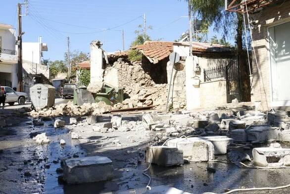 Αρκαλοχώρι: Νέα προβλήματα από το σημερινό σεισμό των 5,3 Ρίχτερ