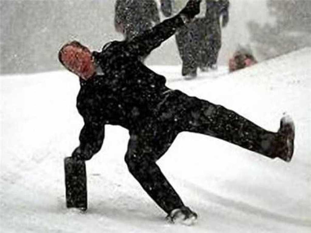 Bilderesultat for people slipping on ice