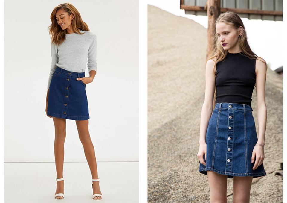 Νέα μόδα - Μίνι φούστα με κουμπιά στο μπροστινό μέρος (pics ... 0ab46bb90dc