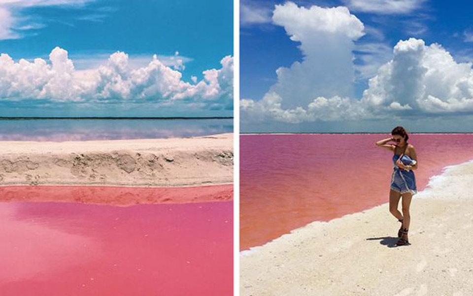 Η ροζ λιμνοθάλασσα του Μεξικού που εντυπωσιάζει (pics+video) ... 8c6ce6f9014