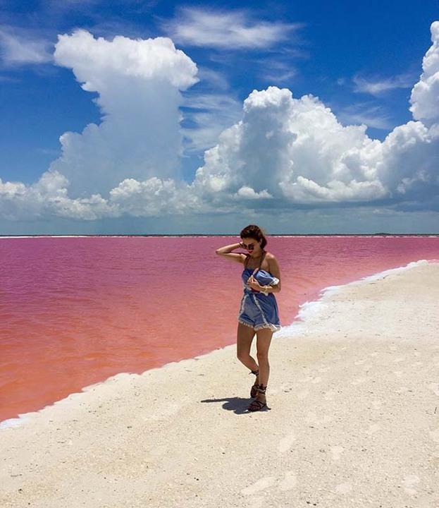 ... Η ροζ λιμνοθάλασσα του Μεξικού που εντυπωσιάζει (pics+video) ... f10cca3e3ac