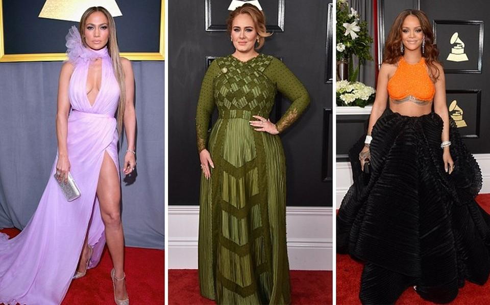 e202060eb4b0 Τι φόρεσαν oι celebrities στο κόκκινο χαλί των Grammy (pics ...
